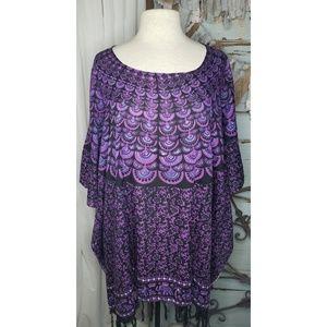Other - Purple art deco swim suit cover up